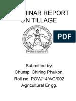 A Seminar Report on Tillage