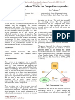 Semantic Web - A Study on Web Service Composition Approaches
