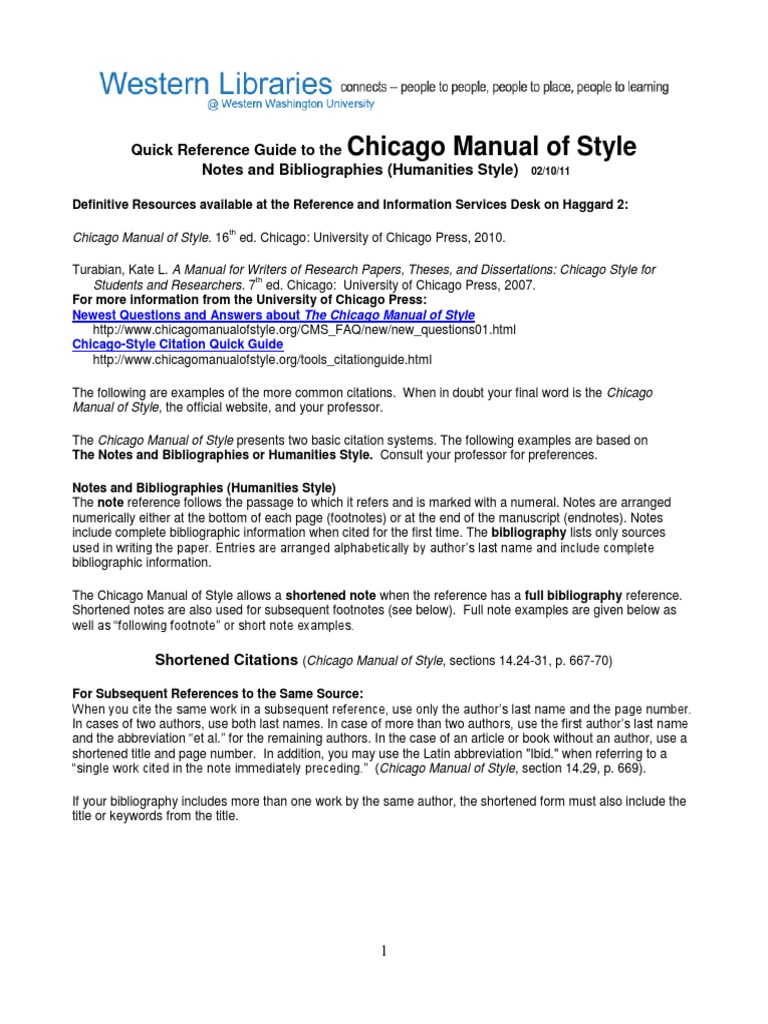 chicago style citation dissertation footnote