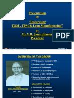 02 Integrating TQM, TPM & Lean Manufacturing - V R Janardhan