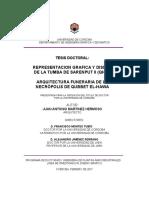 Representación Gráfica y Diseño de La Tumba de Sarenput II (QH31).Arquitectura Funeraria de La Necrópolis de Qubbet El-Hawa.juan Antonio Martínes Hermoso.tesis Doctoral