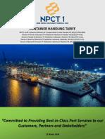 NPCT1 Container Handling Tariff v10