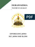 Program Kerja Yayasan Diponegoro