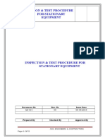 Stationary Equipment Procedure (Pack 1)