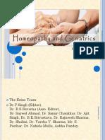 Homoeopathy in Geriatrics