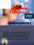 Scope Limitation Homeopathy