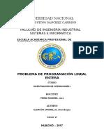 Problema de p.lineal Entera