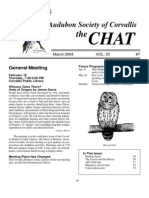 March 2004 Chat Newsletter Audubon Society of Corvallis