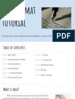 mla format tutorial pdh slideshow