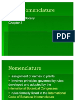 Chapter 3 Plant Nomenclature