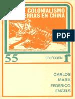 Carlos Marx Federico Engels Colonialismo y Guerras en China