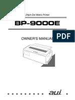 AUI BP-9000E Owner's Manual