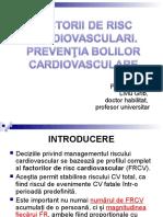 FACT. RISC CV. Preventia maladiilor CV.ppt