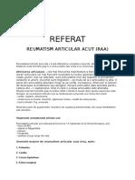 Reumatism Articular Acut (Raa)