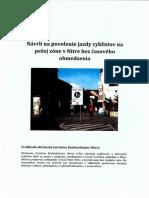 Návrh na povolenie jazdy cyklistov po pešej zóne v Nitre