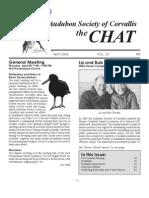 April 2006 Chat Newsletter Audubon Society of Corvallis