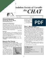 May 2006 Chat Newsletter Audubon Society of Corvallis