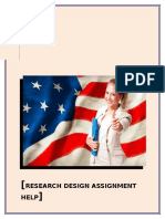 Research Design Assignment Help