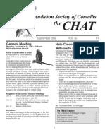 September 2006 Chat Newsletter Audubon Society of Corvallis