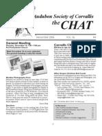 December 2006 Chat Newsletter Audubon Society of Corvallis