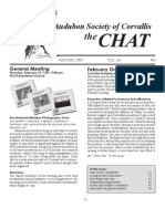 February 2007 Chat Newsletter Audubon Society of Corvallis