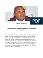 Sim Card Press Release May 19th - Uganda Government