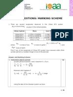Short Problem Solution-Marking Scheme (3)