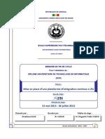 Mémoire DUT 2013- Ibrahima KANE - 2SI