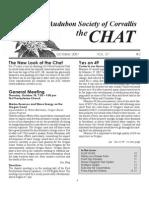 October 2007 Chat Newsletter Audubon Society of Corvallis