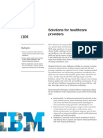 Ibm Solutions for Healthcare Providers