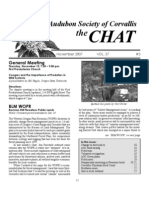 November 2007 Chat Newsletter Audubon Society of Corvallis