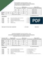 II Sem Time Table (2015-16)
