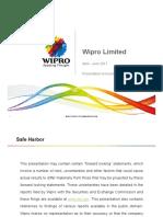 Wipro Investor Presentation Q4 FY17