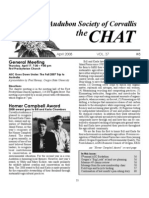 April 2008 Chat Newsletter Audubon Society of Corvallis