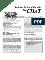 Summer 2008 Chat Newsletter Audubon Society of Corvallis