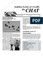 October 2008 Chat Newsletter Audubon Society of Corvallis