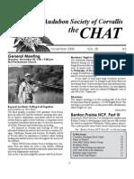 November 2008 Chat Newsletter Audubon Society of Corvallis