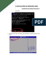 Instalación de Windows 2000