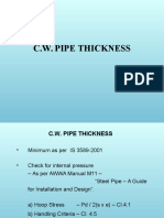 Cw Pipe Thickness
