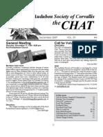 December 2009 Chat Newsletter Audubon Society of Corvallis