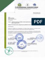 Carta Intergremial Al Ministro de Agricultura
