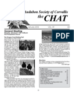 January 2010 Chat Newsletter Audubon Society of Corvallis
