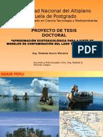 (Tesis) Aproximación Ecotoxicológica Para Ajuste de Modelos de Contaminación Del Lago Titicaca -