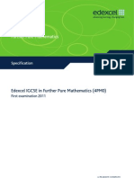 IGCSE2009 Further Pure Mathematics (4PM0) Specification