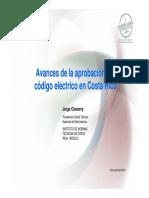 Avances de La Aprobación Del Código Eléctrico en Costa Rica