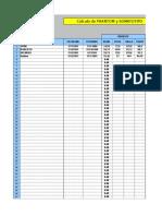 Planilla Horizontal, Cálculo de PHANTOM y SOMATOTIPO