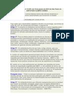 Lei Nº 15 297 de 10-01-2014 Regulamentação de Oficinas