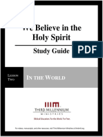 We Believe in the Holy Spirit – Lesson 2 – Study Guide