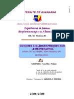 données bibliographique sur le resveratrol