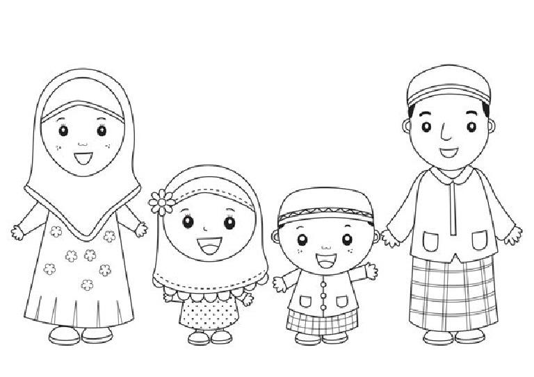 Mewarnai Kartun Kg Muslim Hal 2